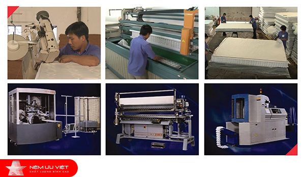 Uu Viet's Mattress are produced on a modern machine line