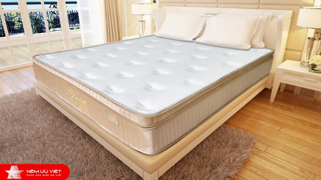 Nệm lò xo túi Isabelle 7 vùng – Euro Top Memory Foam
